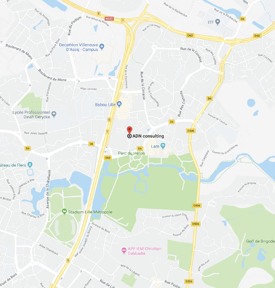 Maps adresse ADN Consulting